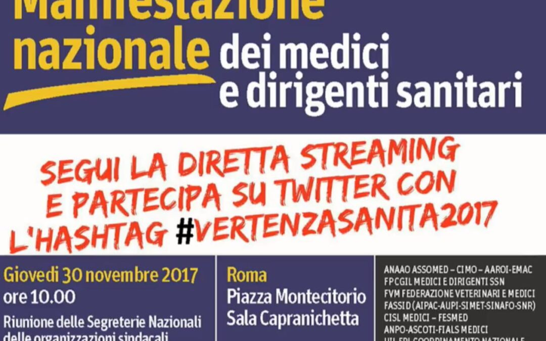 Manifestazione Nazionale dei medici e dirigenti sanitari