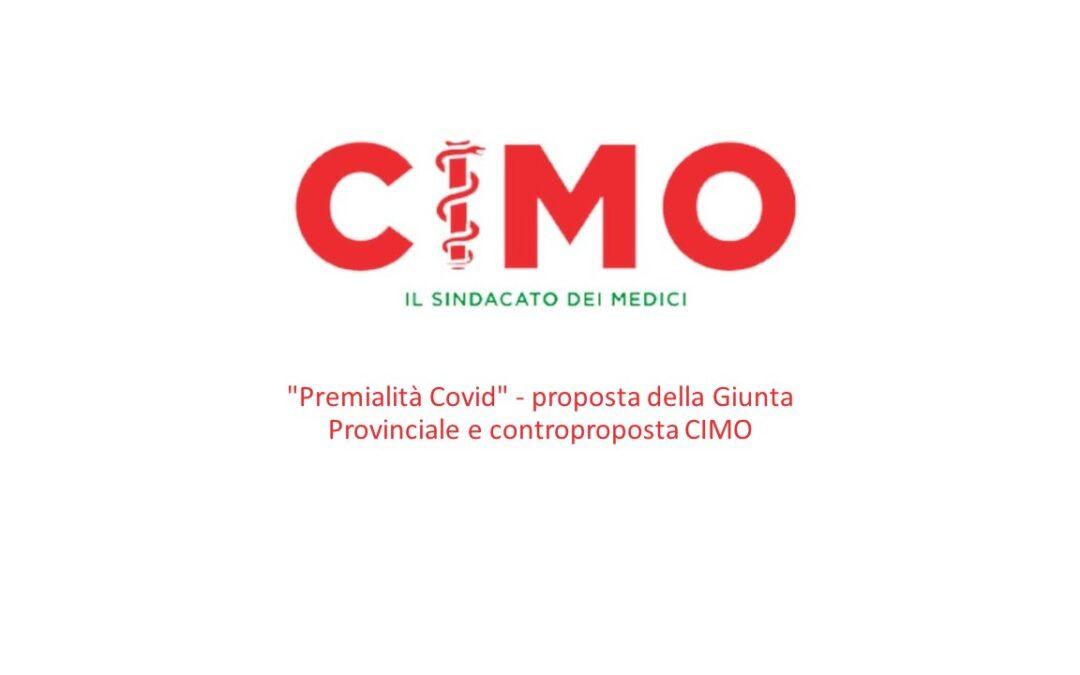 """""""Premialità Covid"""" – proposta della Giunta Provinciale e controproposta CIMO"""